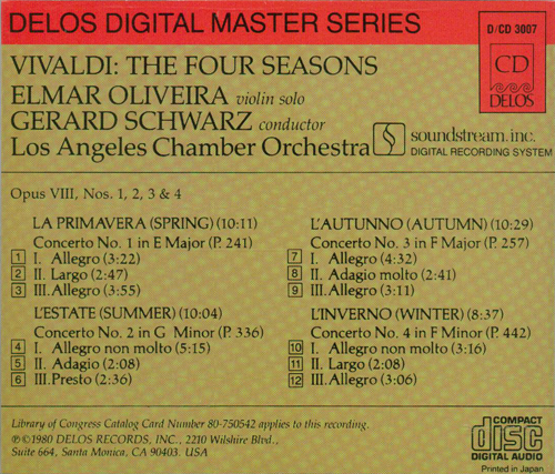 vivaldi four seasons delos back insert_500